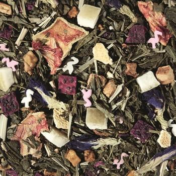 herbata zielona smakowa pływające flamingi