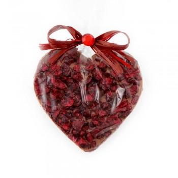 serce z ciemnej czekolady z wiśniami