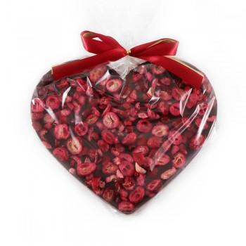 serce z ciemnej czekolady z żurawiną
