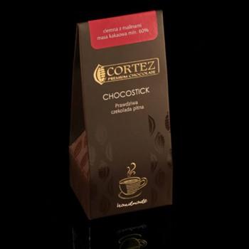 chocostick mleczna czekolada z truskawkami
