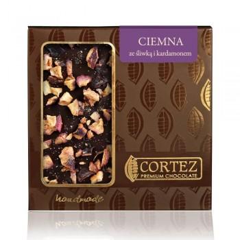 czekolada ciemna ze śliwką i kardamonem
