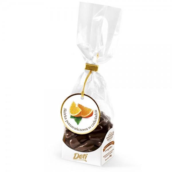 czekoladki skórka pomarańczowa w czekoladzie 100g