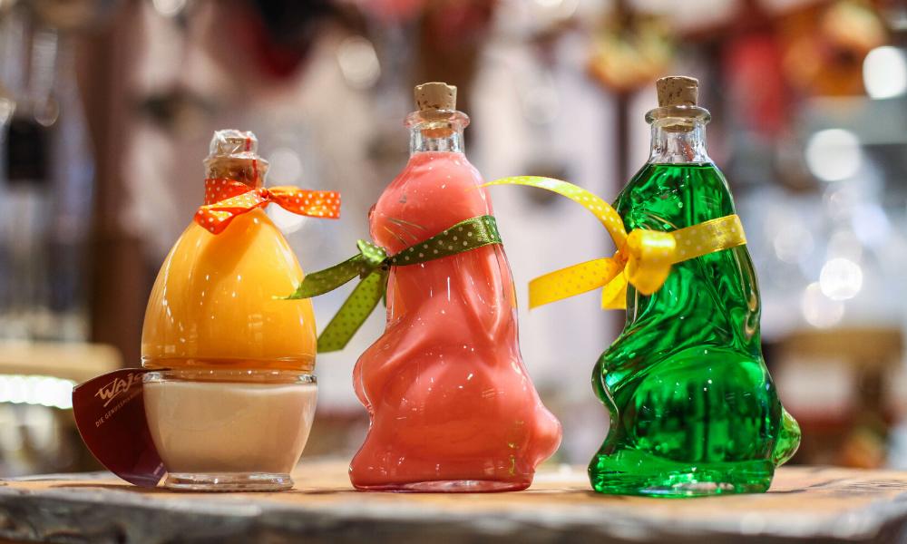 Butelki ozdobne, butelki zajączek, butelka jajko